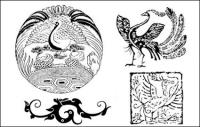 Phoenix pattern vector case -4