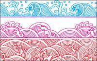 Spray pattern vector material