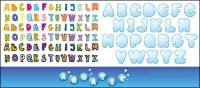 Alphabet vector material