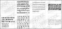 9 in particular the English alphabet vector material