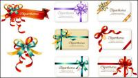 Bow Ribbon cards vector material