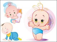 Cute baby Vector material