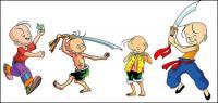cartoon characters vector