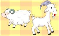 goats, sheep