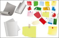 Paper, stationery, rope vector