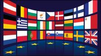 EU flag vector material