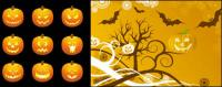Halloween Pumpkin Vector material