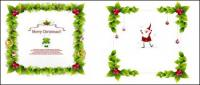 Christmas wreath Vector Borders
