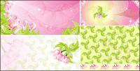 Pink flowers Vector