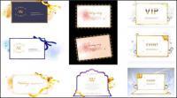 A beautiful ribbon element vector material
