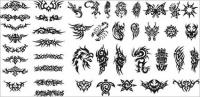 Series of black and white design elements vector material -15 (Totem)