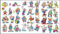 Clown Set Vector material