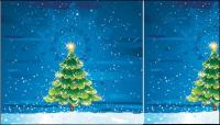 Snow tree vector material