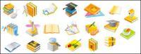 Mouse, Dr. cap, pencils, pens, CD-ROM, set square dragonfly