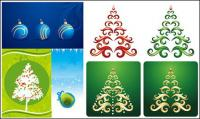 Christmas hanging ball, ribbon vector