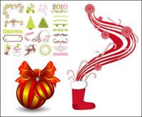 2010 pattern, bells,, crutches, wings vector