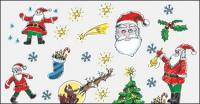 Hand-painted Christmas Cartoon Vector