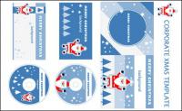 Santa Claus CD template vector