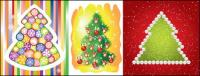 Exquisite Christmas tree vector
