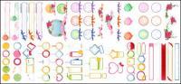 Tag, dialog boxes, bows, roses vector