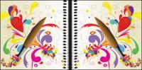 Pen, color lines