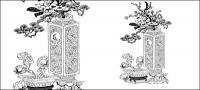Vector vase pot