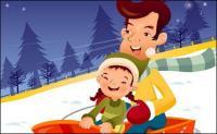 iClickart Cartoon Family illustrator vector material -15