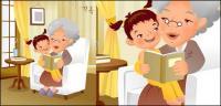 iClickart Cartoon Family illustrator vector material -11
