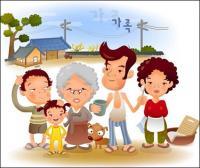 iClickart Cartoon Family illustrator vector material -1
