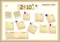 2010 New Year Calendar Vector