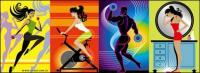 Fitness Series illustrator vector material