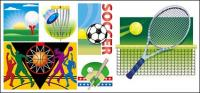 Vector illustration of various sports materials