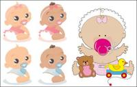 baby, toys, pacifier Vector material