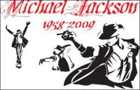 Michael Jackson classic action vector material