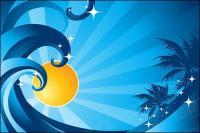 Solar wave vector coconut trees