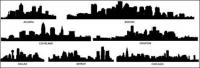 City silhouette vector material -2