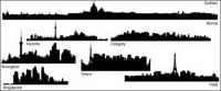 City silhouette vector material -1