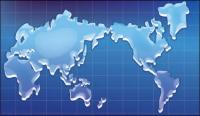 Crystal texture map of the world vector