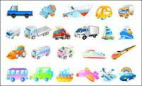 Vector ships, airplanes, cars, ambulances