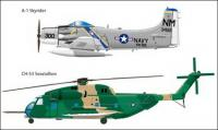 Military aircraft vector material