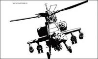Apache helicopters vector material