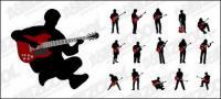 Dan Jita figure silhouettes vector material