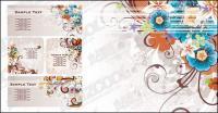Fun fashion color pattern vector material