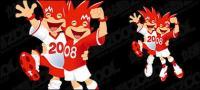 2008 European Cup mascot vector material