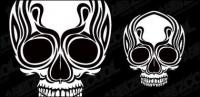 Skulls totem vector material