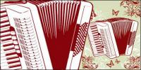 Accordion and the pattern vector material