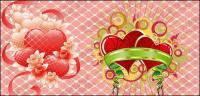 Piaodai with heart-shaped vector material