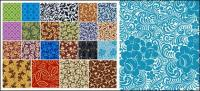 22, Continental classical pattern tiled background material vector