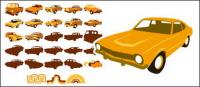 Vector material elements of classic cars