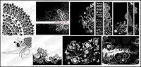 8, black and white pattern vector material